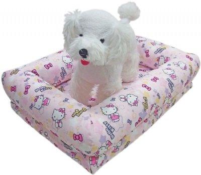 凱蒂貓~Fancy Pets X Hello Kitty拆洗式寵物睡床 貓 狗用 寢具 KITTY-M 粉/灰
