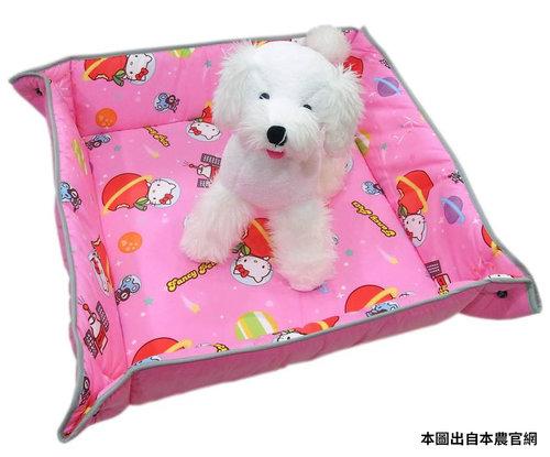 凱蒂貓~Fancy Pets X Hello Kitty 百變造型寵物睡墊 貓 狗 睡床 L(太空風-KT)