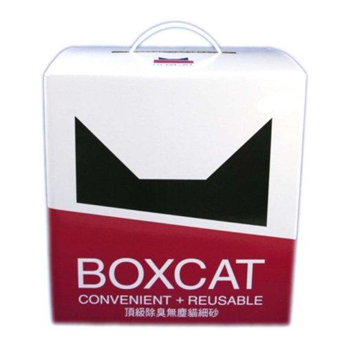 國際貓家 BOXCAT紅標 0粉塵礦砂 頂級除臭無塵貓砂(11L) 貓砂