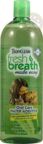 美國Fresh breath 鮮呼吸-寵物潔牙水/預防口臭/減少牙菌斑/33.8oz(1000ml),貓狗潔牙水