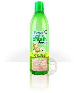美國Fresh breath 鮮呼吸-寵物潔牙水 幼犬專用/預防口臭/減少牙菌斑/473ml