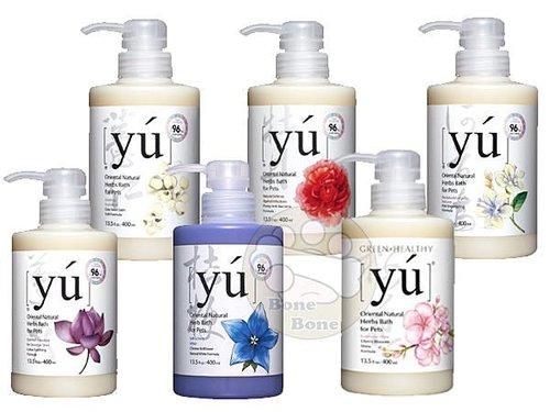 YU 東方森草保養系列寵物沐浴乳(牡丹/蓮花/何首烏/薏仁/桔梗/櫻花400ML