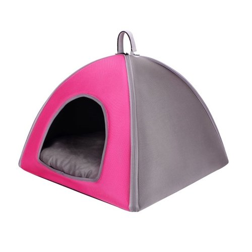 ibiyaya依比呀呀/加大版寵物三角窩FB1206-P/寵物睡窩/寵物睡床/犬貓睡墊