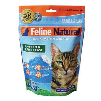 紐西蘭 K9 Feline 貓糧生食餐 雞肉+羊肉 (乾燥) 125g 貓生食飼料 鮮肉貓糧