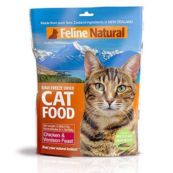 紐西蘭 K9 Feline 貓糧生食餐 雞肉+鹿肉 (乾燥) 125g 貓生食飼料 鮮肉貓糧