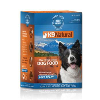 紐西蘭 K9 Natural 狗生食餐 (冷凍乾燥) 牛肉1.8kg 挑嘴過敏狗鮮肉生食飼料 2超取3宅配