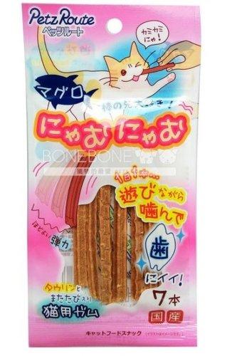日本 Petz Route 沛滋露 貓用鮪魚條-7入 添加牛磺酸木天蓼 貓點心零食