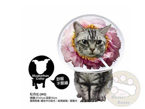 伊莉莎白寵物項圈-牡丹花/寵物項圈/頚圈/頭套/防咬保護套MS