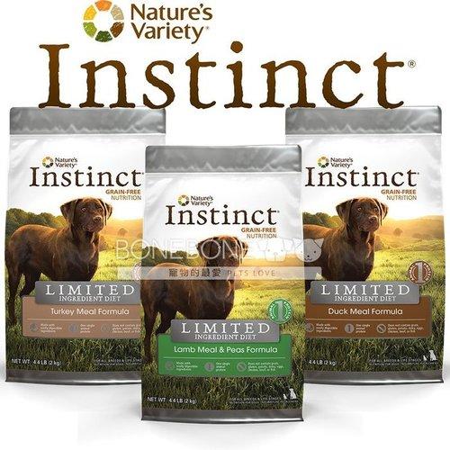 Instinct本能【無穀低致敏單一】 (羊肉/火雞肉/鴨肉) 全犬狗乾糧飼料25.3磅