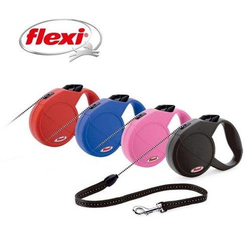 Flexi 飛萊希 多功能伸縮寵物牽繩狗拉繩自動牽繩 經典帶狀M號 (紅粉紅黑藍) 適用20kg長度5m