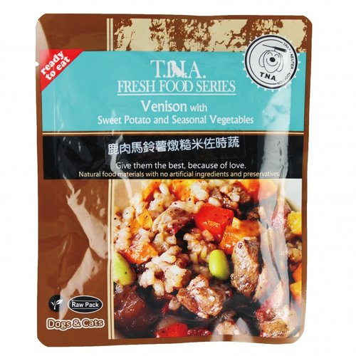 T.N.A. 悠遊餐包 紐西蘭鹿肉燉馬鈴薯糙米佐時蔬 150g 寵物餐包 寵物點心