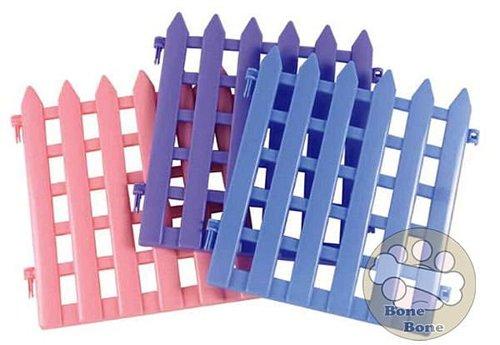 寵物 /寵物圍欄/塑膠圍片(粉色/藍色/紫色)長41.5寬×43.5