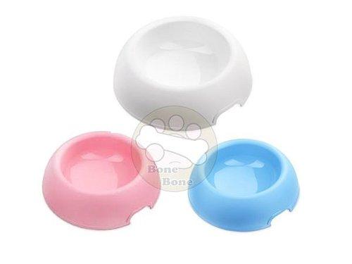 阿曼特 糖圈造型寵物餵食碗/食盆/食碗/食器/餐具 藍/粉/白 S號