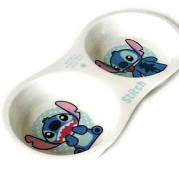 Pet Paradise 日本 Desiney 史迪奇 寵物用陶器雙碗 (貓狗碗)