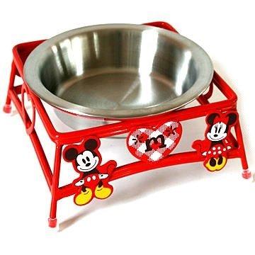 日本PET PARADISE授權正品 Disney Mickey & Minnie 米奇與米妮 不鏽鋼犬貓用 單碗餐檯