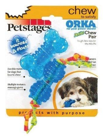 美國Petstages 啃咬紓壓系列-歐卡迷你二合一優惠組/狗狗玩具/寵物玩具/啃咬健齒/互動玩具具