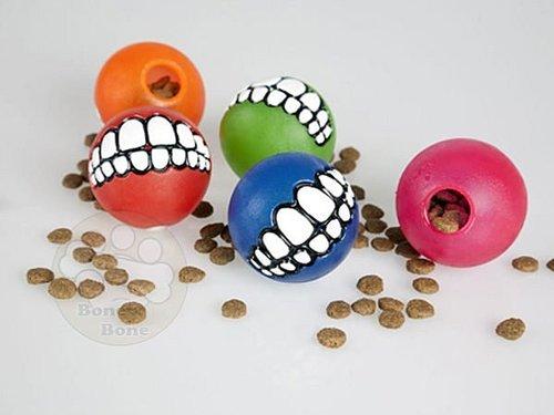 美國Rogz-微笑球(小)/填充零食玩具/零食球/抗憂鬱玩具/狗狗玩具