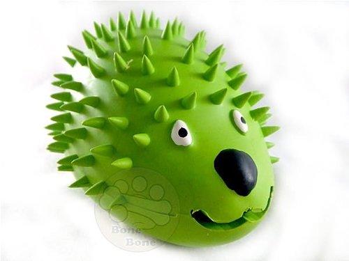 LEO DOG 刺蝟零食球乳膠玩具/狗狗玩具/寵物安全玩具/抗憂鬱玩具-M號(可放置零食)