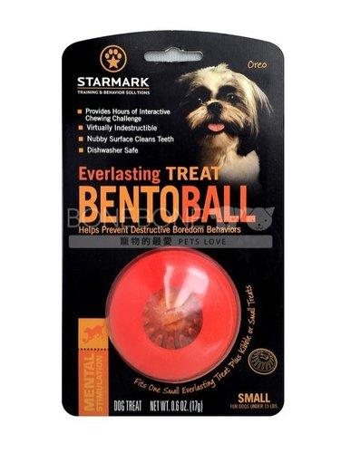 美國星記StarMark 半球造型犬用橡膠狗玩具 S號 可放磨牙餅耐咬可機洗
