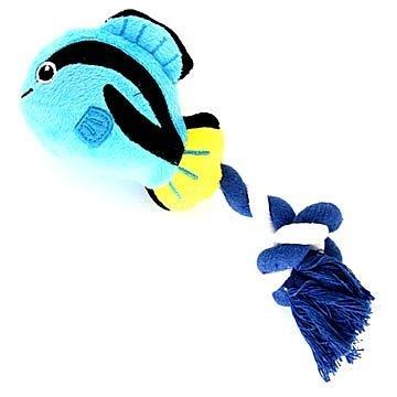 PET PARADISE 日本進口正品 narikiri pets 熱帶藍刀鯛繩索玩具 犬貓用嗶嗶聲響玩具