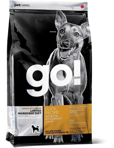 加拿大GO! 天然犬糧/狗狗飼料 6LB 低致敏鴨肉無穀配方