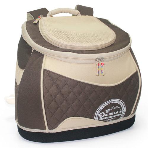 Daisuki CS03-102L 經典咖啡 寵物外出包 載重12kg 後背/手提 (推車/含拉桿)  手推車