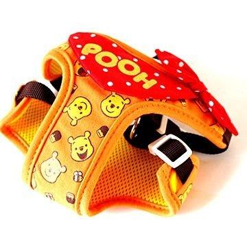 日本PET PARADISE授權正品 [小熊維尼] 小型犬用 胸背鞍帶 SS