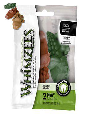 WHIMZEES可愛造型潔牙骨/WZ潔牙骨/狗狗零食 -鱷魚哥造型一包2入