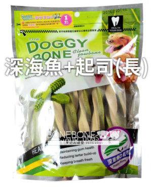 DOGGY BONE 多奇棒強效潔牙骨 犬用狗零食 360g -深海魚+起司長支