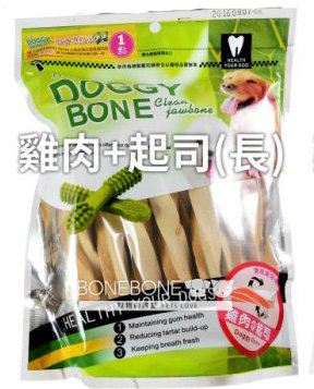 DOGGY BONE 多奇棒強效潔牙骨 犬用狗零食 360g - 雞肉+起司長支