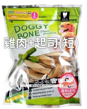 DOGGY BONE 多奇棒強效潔牙骨 犬用狗零食 360g - 雞肉+起司短支