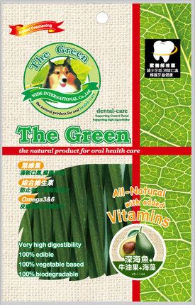 The Green 潔牙骨6支入袋裝/The Green星型潔牙棒-深海魚+牛油果+海藻 6支入