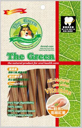 The Green 潔牙骨6支入袋裝/The Green星型潔牙棒-鮭魚+高纖紅薯 6支入