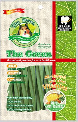 The Green 潔牙骨6支入袋裝/The Green星型潔牙棒-雞肉+綠茶+鳳梨酵素 6支入