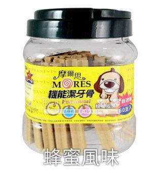 摩爾思 潔牙骨 寵物犬用狗零食-蜂蜜口味 60入經濟桶裝