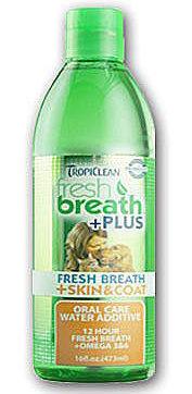 美國Fresh breath 鮮呼吸-寵物潔牙水(美膚)/預防口臭/33.8OZ(1000ml)