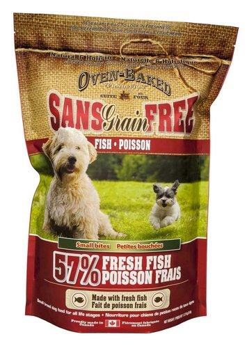 烘焙客Oven-Baked無穀犬用狗飼料全犬-無穀魚肉配方 小顆粒全犬乾糧 5lb 2.27kg 小型狗乾糧食品