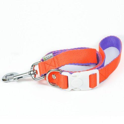 PPark 環保紗-快扣拉繩-台灣燦蛺蝶 橘+紫L(寬度2.5cm/120cm)