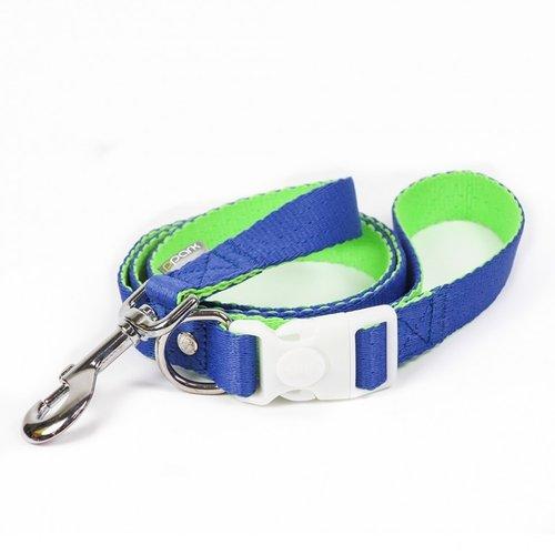 PPark 環保紗-快扣拉繩-玻璃蛺蝶 藍+亮綠  S/M(寬度1.5cm/120cm)