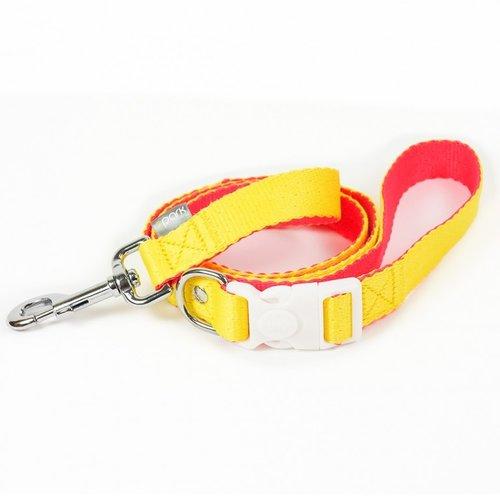 PPark 環保紗-快扣拉繩-台灣黃蝶 亮黃+粉橘L(寬度2.5cm/120cm)