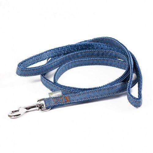 PPark 牛仔布-快扣拉繩  淺藍 S/M(寬度1.5cm/120cm)