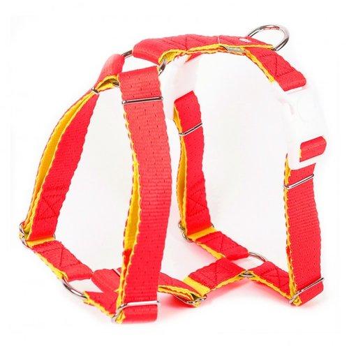 PPark -環保紗-雙扣H型胸背帶/粉橘/五種尺寸