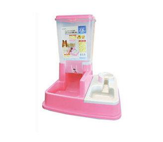 阿曼特《自動餵食器飲水器》飼料桶1.8公升 粉紅色賣場