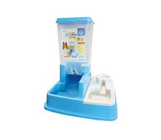 阿曼特《自動餵食器飲水器》飼料桶1.8公升 水藍色賣場
