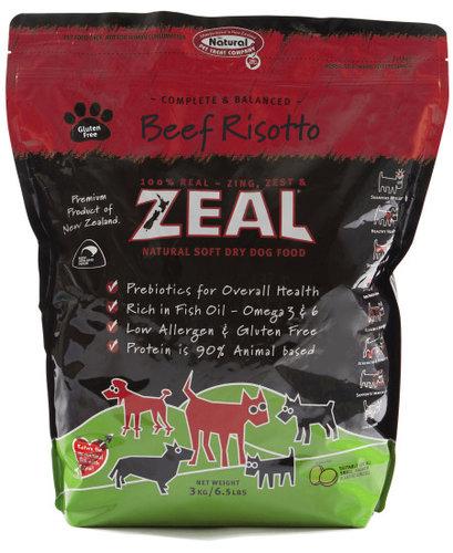 ZEAL 紐西蘭6.5LB天然寵物半軟全犬糧/軟飼料 牛肉口味