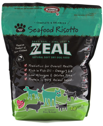 ZEAL 紐西蘭6.5LB天然寵物半軟全犬糧/軟飼料 鱒魚口味
