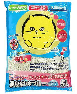 SuperCat大頭貓消臭紙砂 皂香味 5L 紙沙 環保紙貓砂 可沖馬桶 紙貓沙 貓砂 紙砂 同韋民貓砂出廠