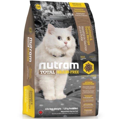 (下殺999元) nutram紐頓-T24無穀全齡貓(鮭魚+鱒魚)1.8kg 貓糧 貓飼料