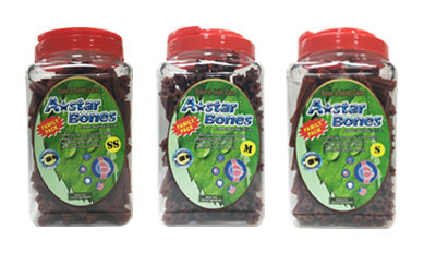 A-Star Bone/A-Bones六星棒潔牙骨/六星螺旋 -幫助骨骼保健/大桶裝 家庭號桶裝 SS/S/M