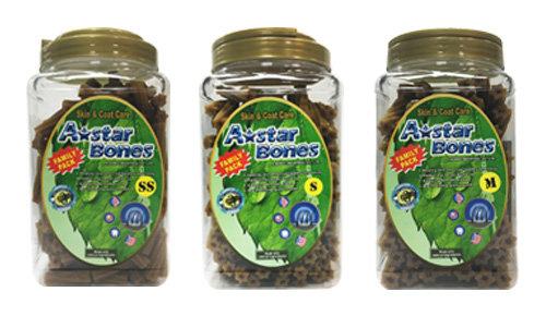 A-Star Bone/A-Bones六星棒潔牙骨/六星螺旋 -幫助皮膚保健及亮毛/大桶裝 家庭號桶裝 SS/S/M
